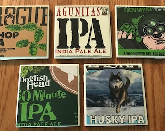 Assorted IPA Beer Coasters