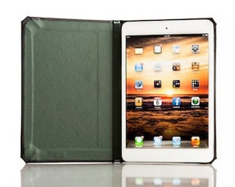 SECONDS - Walden Collection for iPad Mini/Retina - Onyx Black with Forest Green Interior