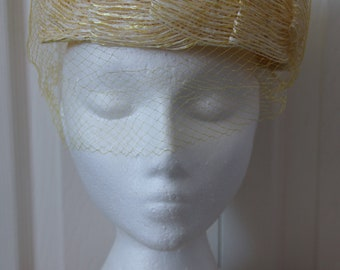 1950s Yellow Hat with Mesh