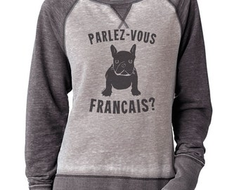 Je t'aime Sweater tell Her you Love Her Heart Sweater Gift for a loved one Heart Sweatshirt Christmas Gifts Heart Shirt French Bulldog