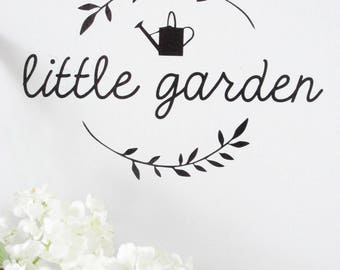 """""""Little Garden"""" stickers."""