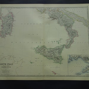 Large map of italy Etsy AU