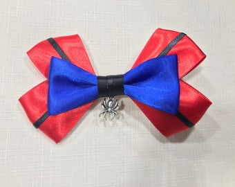 Marvel Comics Spiderman Inspired Hair Bow