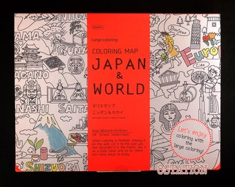 Coloring Map Book JAPAN WORLD Japanese