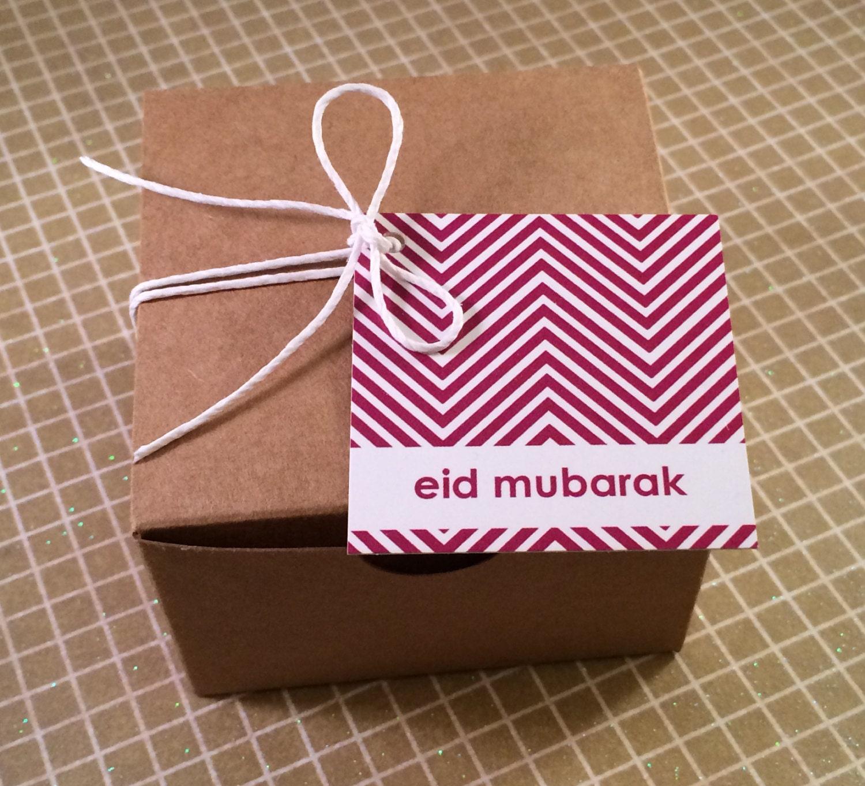 Set of 6 Eid Mubarak Favor/Gift Tags