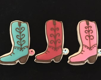 Cowboy /Cowgirl Boot Sugar Cookies