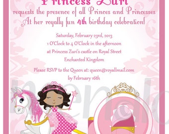 Pink Princess - DIY Invite