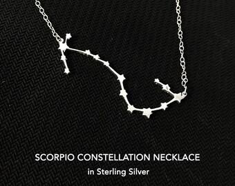 Scorpio Constellation Necklace, Scorpio Zodiac Gift, Zodiac Necklace, Zodiac Jewelry, Gift For Women, Sister Gift, Friend Gift, Mom Gift