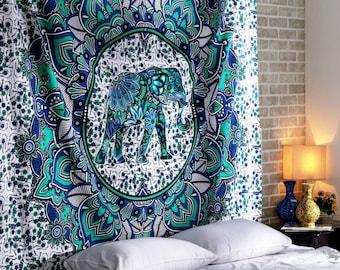 Boho Hippie Indian Handmade Mandala Tapestry Queen Size Wall Hanging Multi Purpose Dorm Decor Wall Decor Hanging