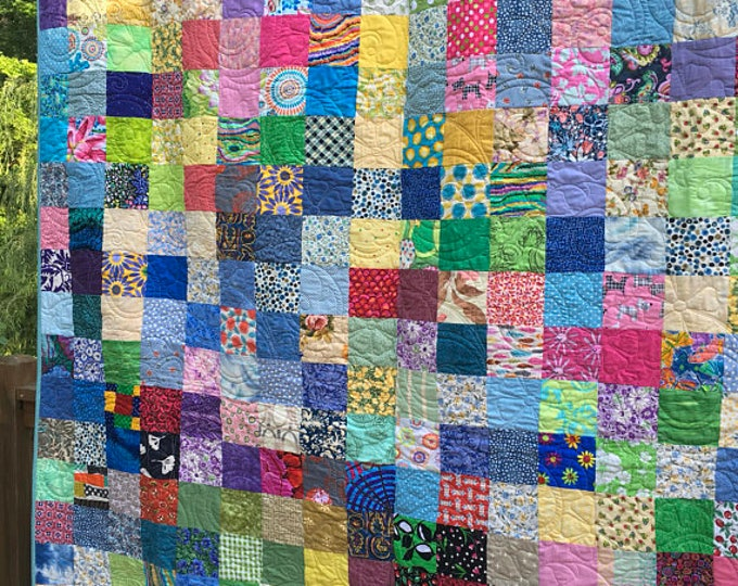 Twin Patchwork Quilts - Handmade Quilts - Twin Bedding - Quilt