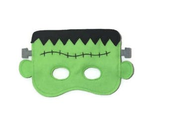 Frankenstein Mask, Halloween mask, Kids frankenstein mask, Children's halloween mask, Children's frankenstein mask, Kid's halloween mask