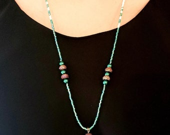 Tickled Pink to Be Green Necklace
