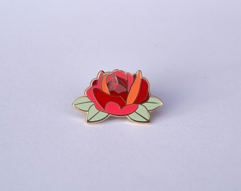 Queen of Hearts Rose Pin
