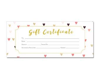 Flower Gift Certificate Gift Certificate Template Gift - Romantic gift certificate template
