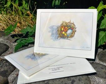Treasure Nest Card, Art Card, Illustration