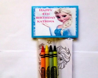 Coloring Pages Frozen Happy Birthday : Frozen coloring page etsy