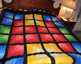 Beautifully colored shade quilt
