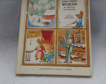 Very First Words for Writing & Spelling A picture Dictionary Teachers Edition 1966 (bb1)