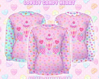"Pink ""Lovely Candy Heart"" Sweater"