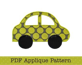 Car Applique Template, Vehicle, Transport, DIY, PDF Pattern by Angel Lea Designs, Instant Download Digital Pattern