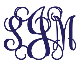 5x7 Digital Monogram-Printable jpeg file