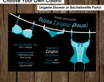 Bachelorette Party Invitation | Lingerie Shower | Instant Download Invitations | Wedding Party |