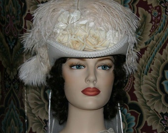 Kentucky Derby Hat, Royal Ascot Hat, Victorian Hat, SASS Hat - Spirit of Virginia