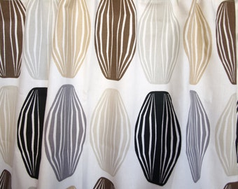 Curtain panel white grey beige brown black paper lamps Cafe curtain Kitchen valance , also runner , napkins available, great GIFT