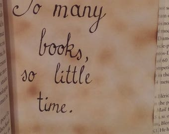 Calligraphy Quote - So Many Books/Frank Zappa