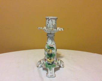Antique Dresden Porcelain Compote Candleholder