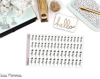 TEMPS de YOGA «Peut» Doodle papier Planner Stickers