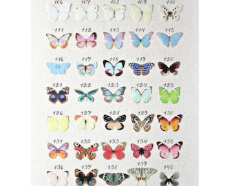 NEW! silk butterflies . 1-4 hair clips, pins, magnets . rainbow of colors . your choice . birthday gift, wedding, bridesmaids, parties