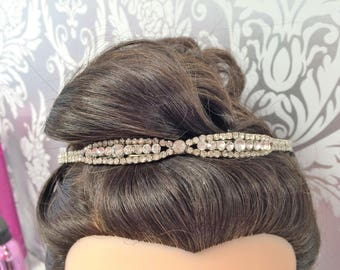 Crystal Bridal headbands, suitable for weddings and proms.