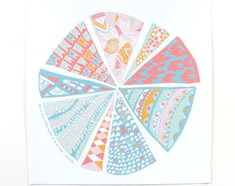 Pattern Pieces Print II