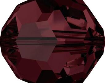 Swarovski Crystal Round Beads 5000 - 3mm 4mm 6mm 8mm - Burgundy