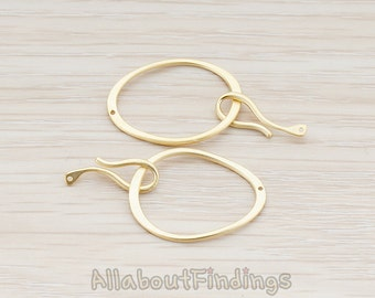 BSC001-MG  // Matte Gold Plated Hook Clasp, 2pc