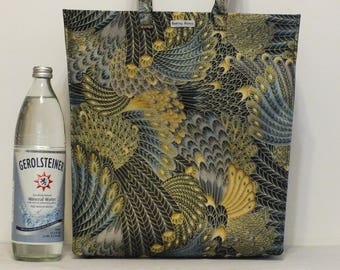 Limited Edition Market Line Bag in print Peacock Feathers