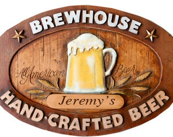 Personalized Pub Beer Sign