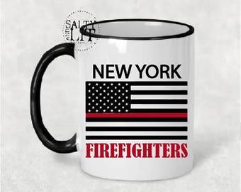 new york firefighter mug,new york fireman mug,firefighter mug,fireman mug,nyc mug,gift for fireman,firefighter gift,fireman gift,mug,gift