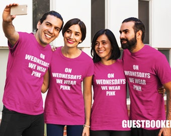 On Wednesdays We Wear Pink Shirt - On Wednesdays We Wear Pink T-Shirt - On Wednesdays We Wear Pink - Mean Girls T-shirt - Mean Girls Shirt