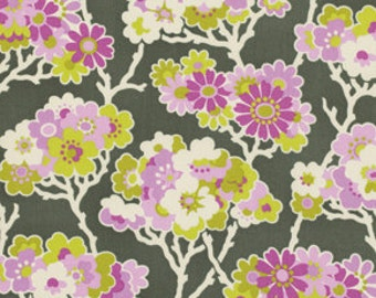 1 Yard Gorgeous HEATHER BAILEY Fabric Lottie Da - COLLECTION  Sprig in Charcoal