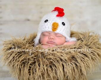 Baby Chicken Hat Crochet Rooster Hat Newborn 0 3m 6m  Soft Photo Prop Clothes Boys Girls Gender Neutral Perfect Year Round