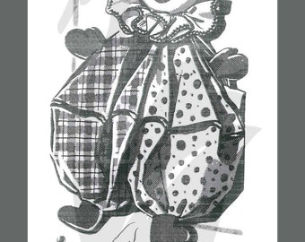Reproduction Clown Laundry or Pyjama Bag Sewing Pattern 2223