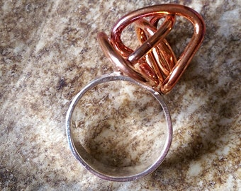 Copper Sculptural Ring