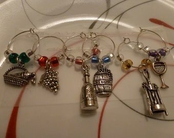 Wine Lover Wine Glass Charms