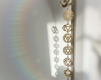 OM Chakra Crystal window hanging, your choice of crystal gemstone, meditation room, decoration