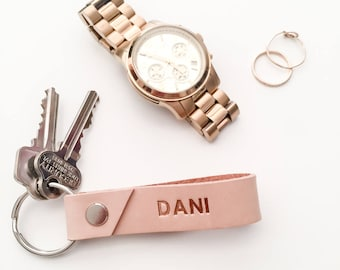 Leather Keychain, personalized, custom keychain, housewarming gift, bridesmaid gift, gift for her, wedding gift, key ring, best friend gift