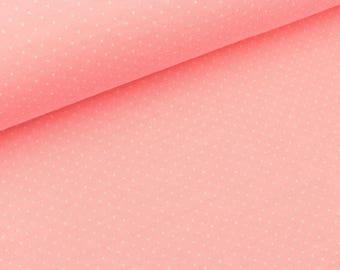 Jacquard jersey mini Polka Dots Pink scuro-white (21.80 EUR/meter)