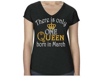 """Glitter Birthday Queen Shirt