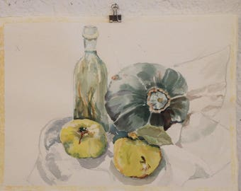 Unfinished Watercolor Still Life